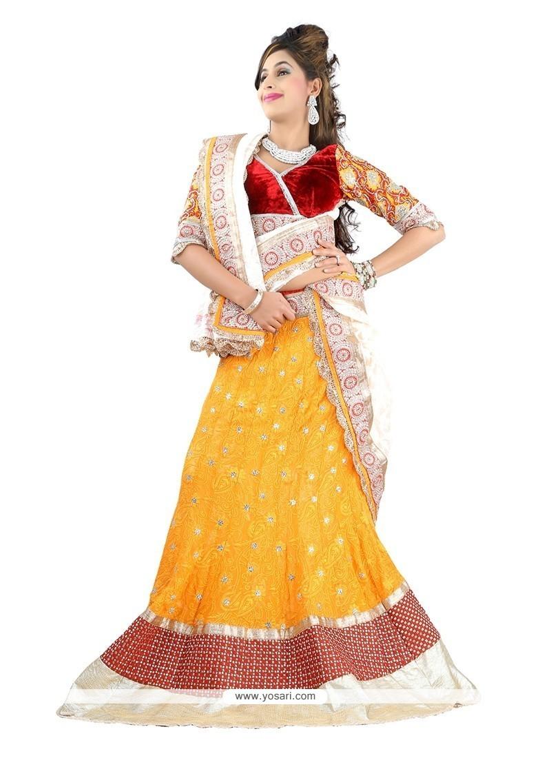 Yellow Embroidered Work Designer Lehenga Choli