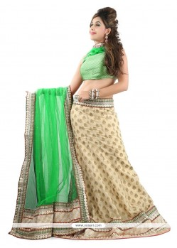 Eye-catchy Green A Line Lehenga Choli