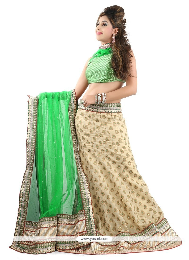 Eye-catchy Green A Line Lehenga Choli