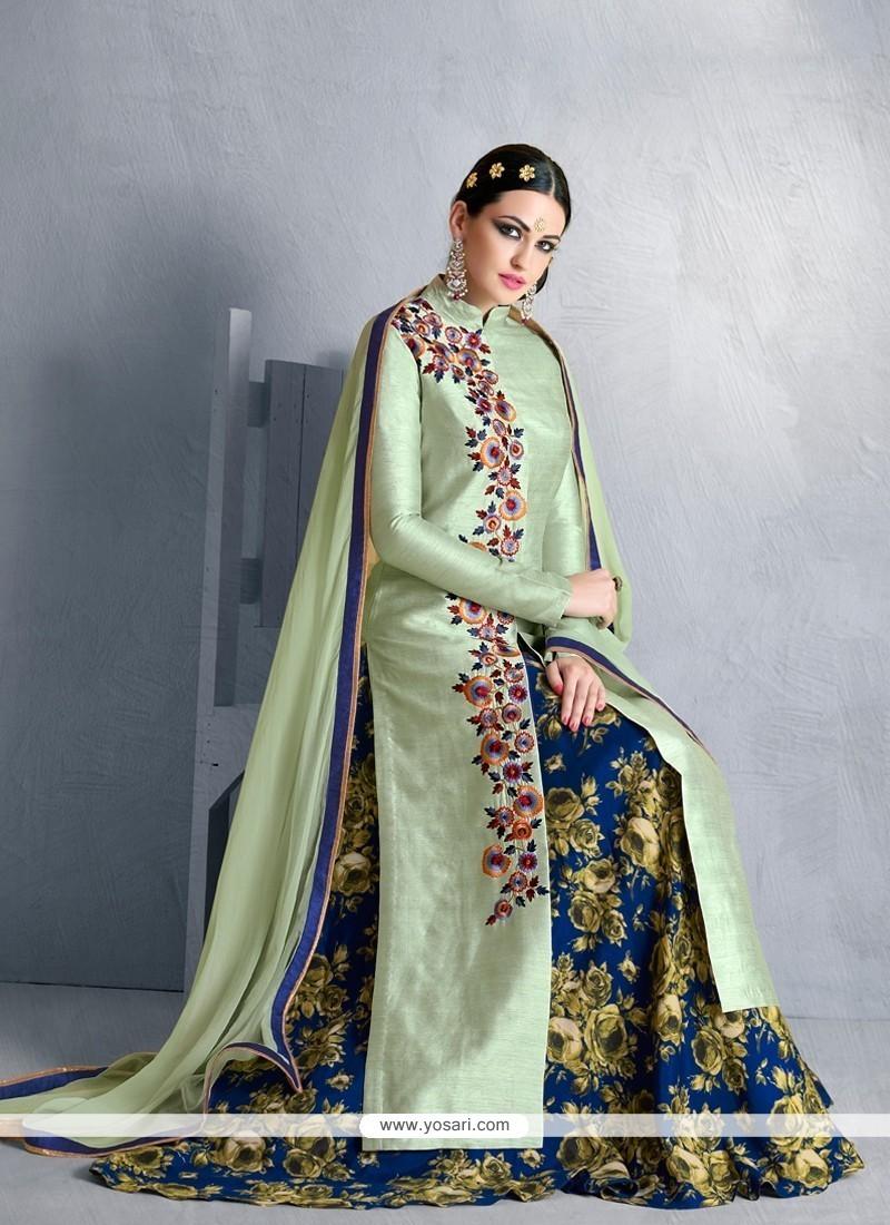 Zesty Bhagalpuri Silk Designer Lehenga Choli