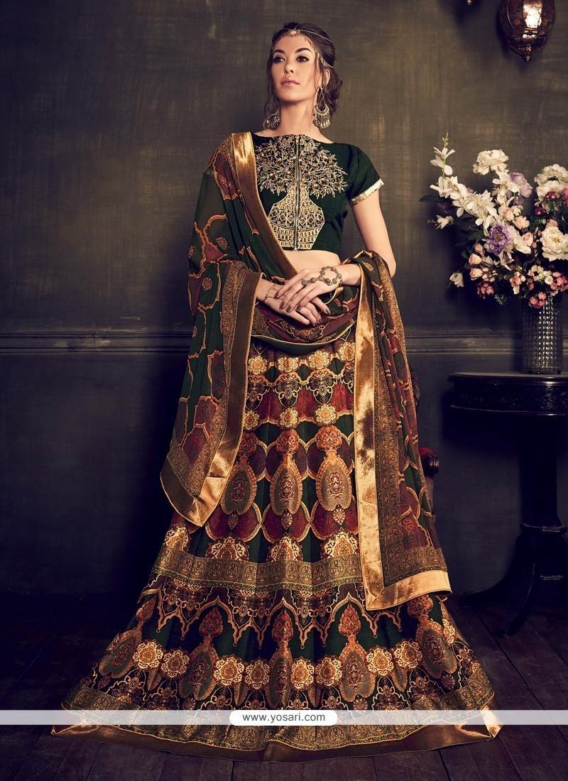 Splendid Banglori Silk Embroidered Work A Line Lehenga Choli