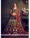 Fab Multi Colour Print Work Banglori Silk Designer Lehenga Choli