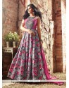 Modish Print Work Multi Colour Anarkali Salwar Kameez