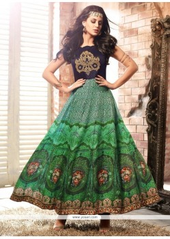 Trendy Embroidered Work Multi Colour Anarkali Salwar Kameez