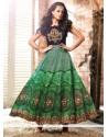 Trendy Embroidered Work Multi Colour Anarkali Salwar Kameez
