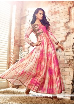Splendid Embroidered Work Multi Colour Anarkali Salwar Kameez