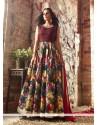 Transcendent Multi Colour Designer Floor Length Salwar Suit