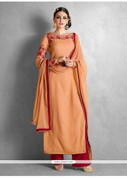 Glorious Resham Work Designer Palazzo Salwar Suit