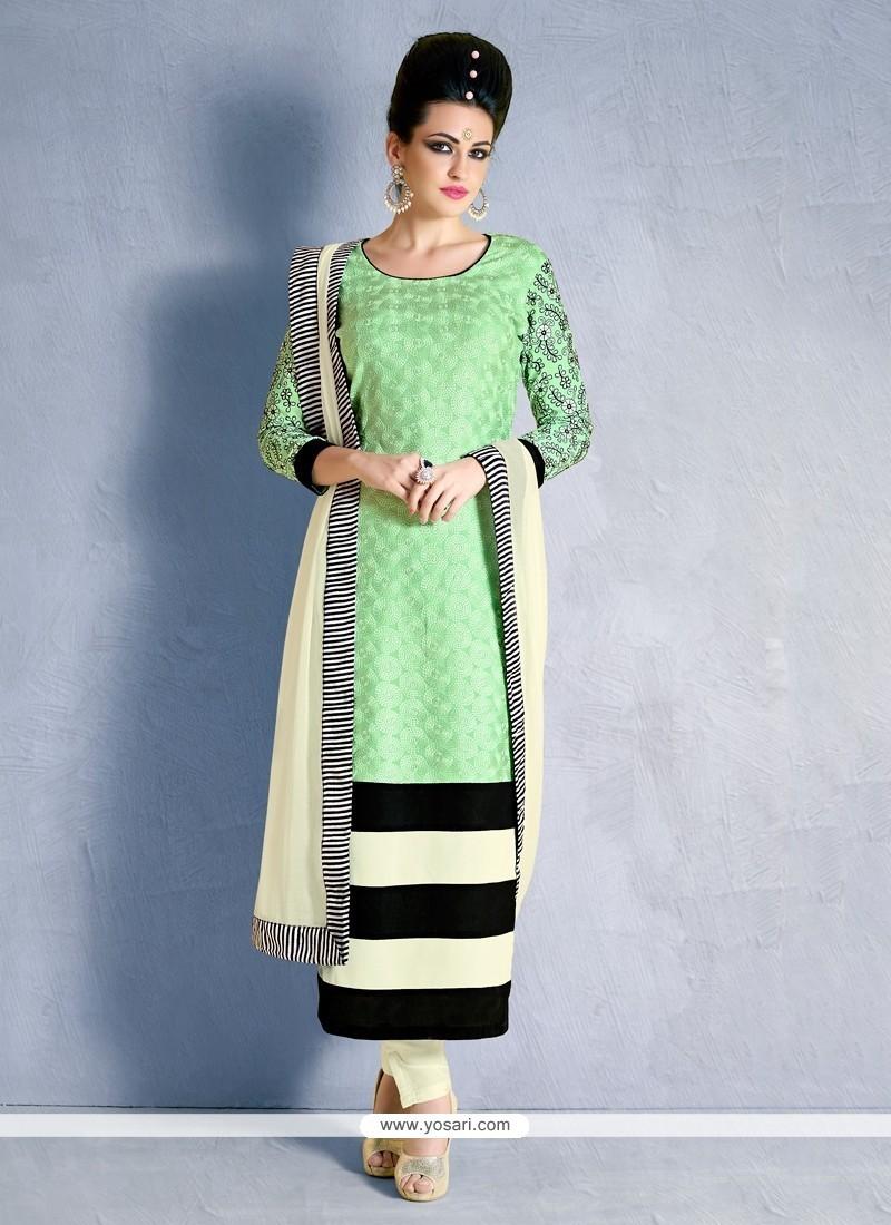 Flawless Print Work Georgette Churidar Designer Suit