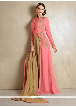 Voguish Resham Work Designer Palazzo Salwar Suit
