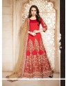 Marvelous Red Banglori Silk Designer Floor Length Suit