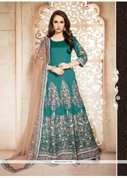 Beautiful Resham Work Designer Floor Length Suit