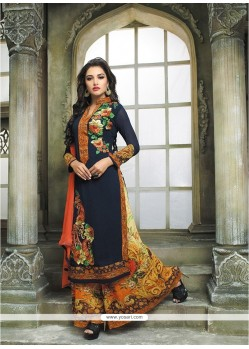 Intrinsic Georgette Multi Colour Digital Print Work Designer Palazzo Salwar Kameez
