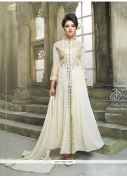 Snazzy Resham Work Georgette Anarkali Salwar Kameez