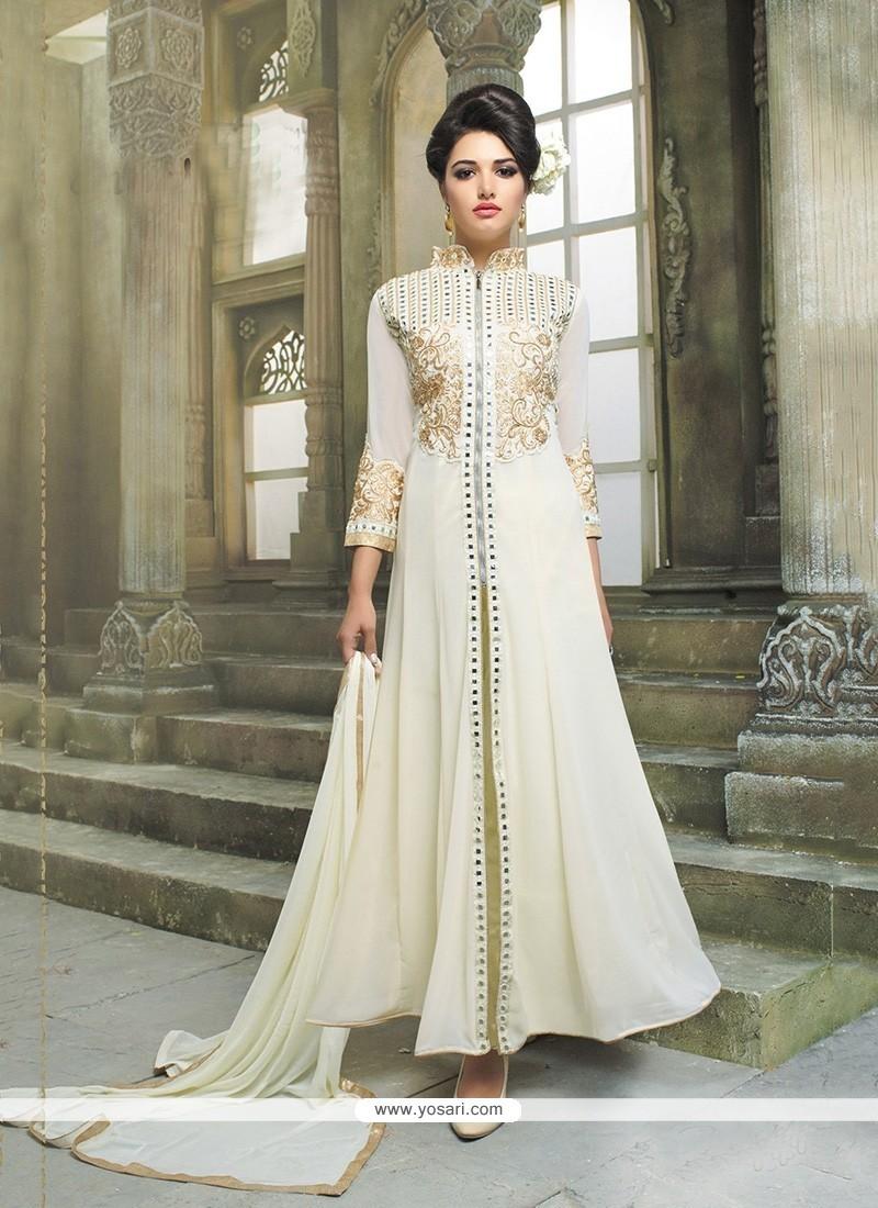 04c38a3053 Buy Snazzy Resham Work Georgette Anarkali Salwar Kameez Online : Germany