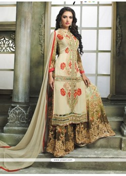 Captivating Multi Colour Designer Palazzo Salwar Kameez