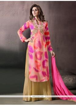 Dazzling Print Work Georgette Designer Palazzo Salwar Suit