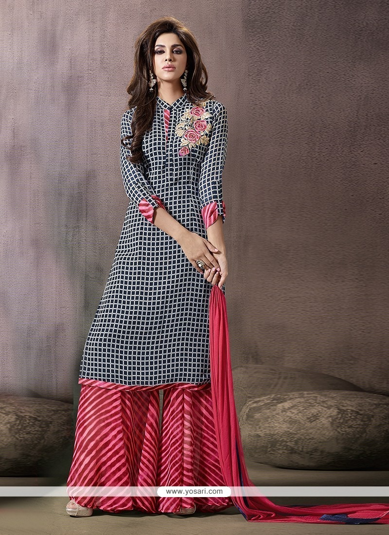981a0d0f99 Buy Extraordinary Georgette Print Work Designer Palazzo Salwar ...