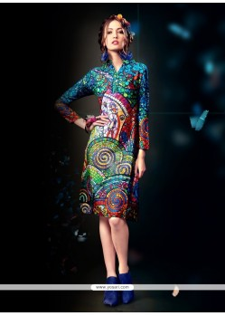 Exquisite Multi Colour Designer Kurti