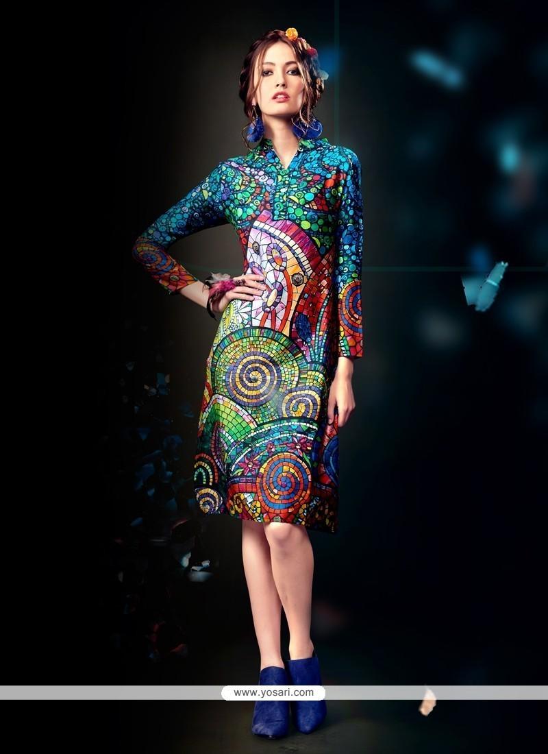 Exquisite Multi Colour Designer Kurti