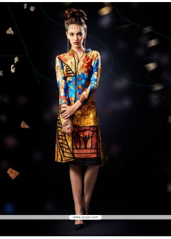 Exotic Digital Print Work Multi Colour Party Wear Kurti