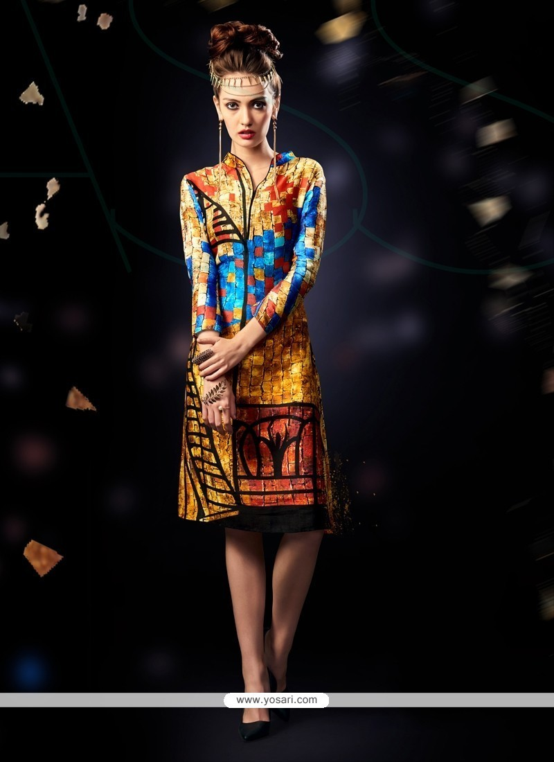 Speical offer worldwide free shipping. Reduced price! Exotic Digital Print  Work Multi Colour Party Wear Kurti fdd5f12bf325