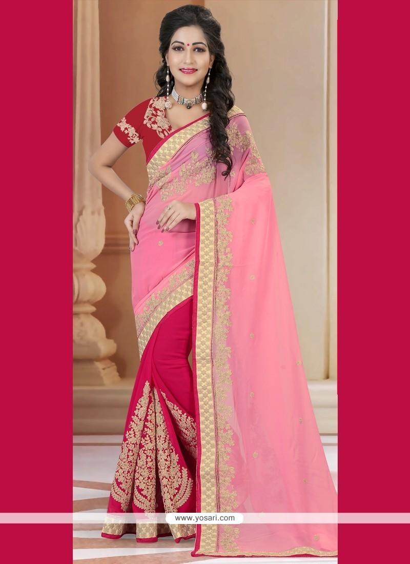 Phenomenal Hot Pink Designer Traditional Sarees