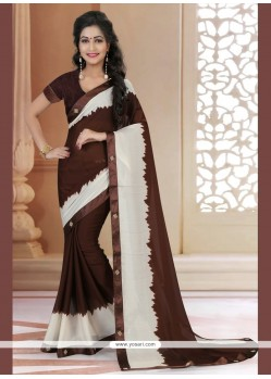 Ravishing Brown Designer Saree