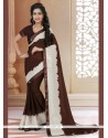 Ravishing Brown Designer Saree