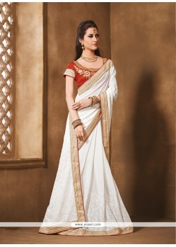 Prime Embroidered Work Designer Saree