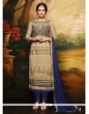 Catchy Resham Work Net Churidar Designer Suit