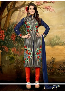 Tiptop Net Churidar Designer Suit