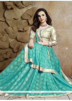 Enticing Jacquard Blue Designer Saree
