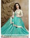 Enticing Jacquard Blue Designer Saree
