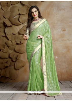 Gleaming Jacquard Patch Border Work Designer Traditional Sarees