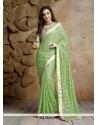 Gleaming Jacquard Patch Border Work Designer Traditional Sarees