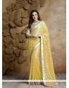 Lavish Jacquard Yellow Classic Saree