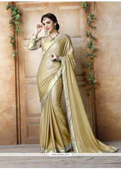 Distinctive Georgette Patch Border Work Classic Saree