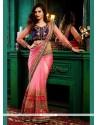 Incredible Net Pink Classic Saree