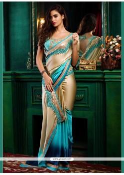 Celestial Blue Designer Saree