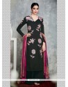 Stylish Cotton Satin Black Designer Palazzo Salwar Kameez