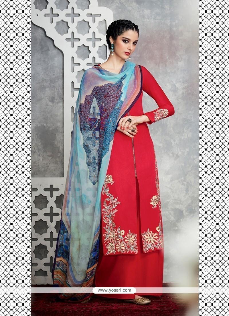 Specialised Embroidered Work Designer Palazzo Salwar Kameez