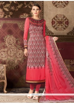 Distinctive Rose Pink Churidar Designer Suit