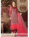 Distinctive Rose Pink Churidar Designer Suit