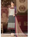 Paramount Embroidered Work Churidar Designer Suit