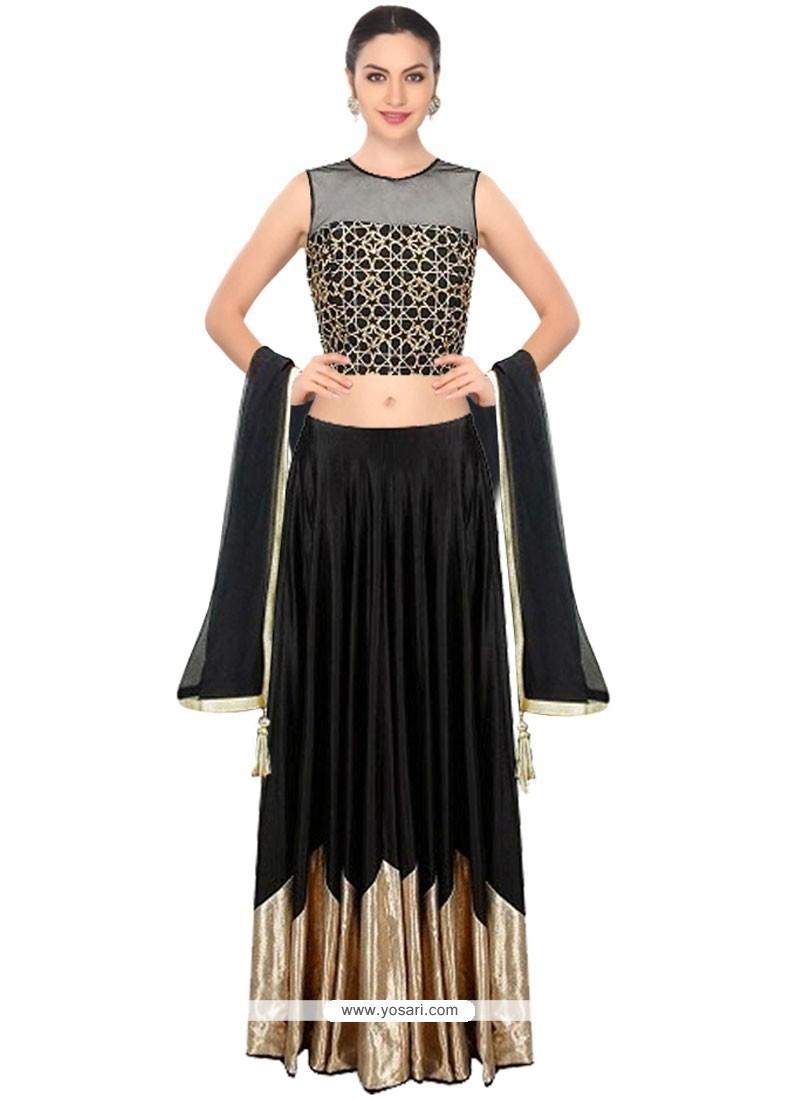 Exquisite Net Black Designer Lehenga Choli