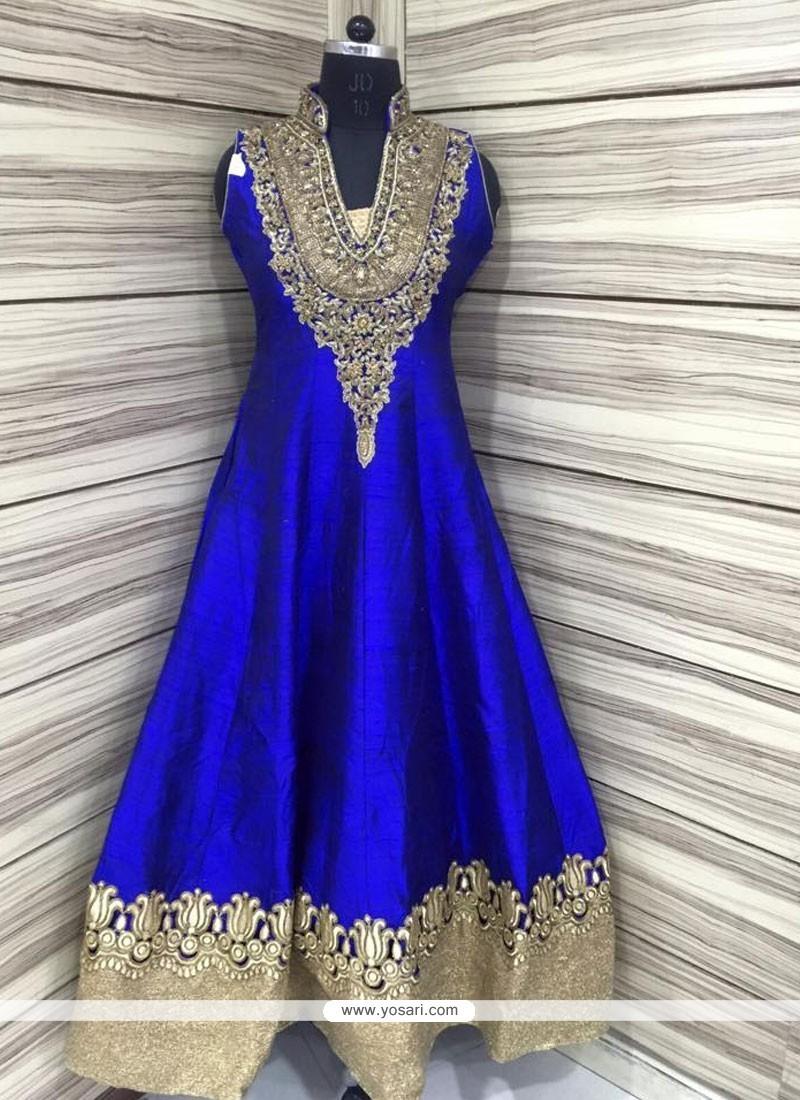 Gilded Embroidered Work Anarkali Salwar Kameez