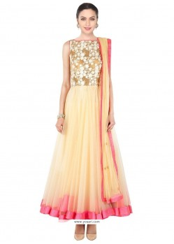 Delightsome Embroidered Work Anarkali Salwar Kameez