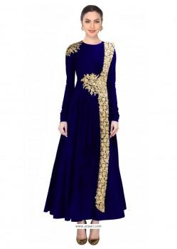 Navy Blue Net Designer Salwar Suit
