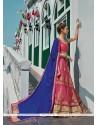 Enticing Net Rose Pink Designer A Line Lehenga Choli